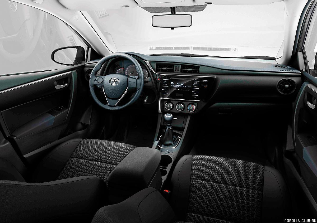 Toyota Corolla рестайлинг 2016 фото салона