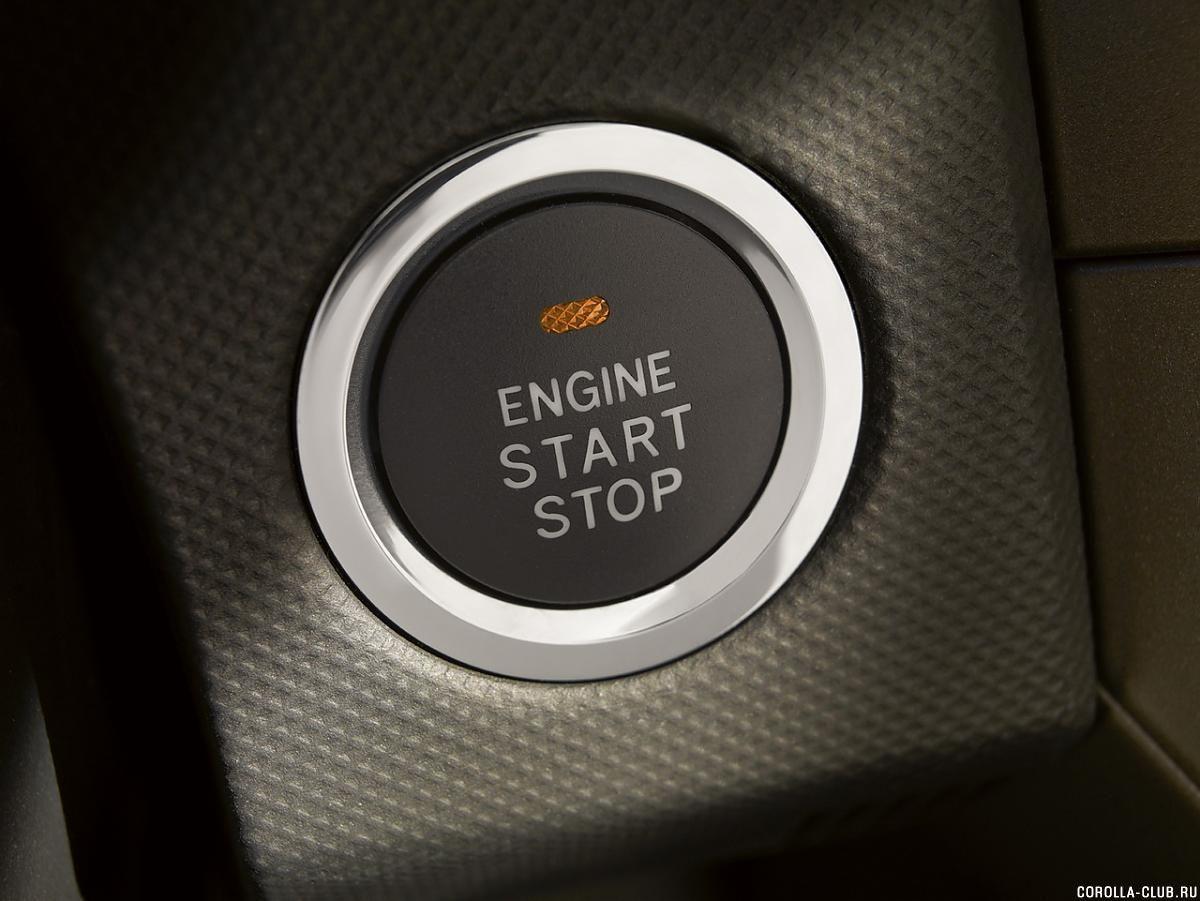 Toyota Corolla 2014 кнопка старт