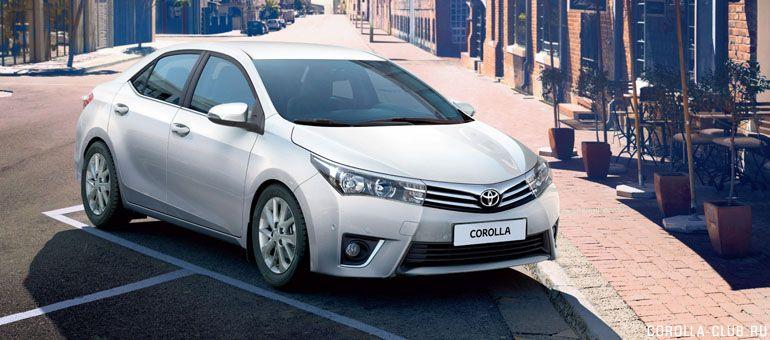 Новая Corolla фото спереди