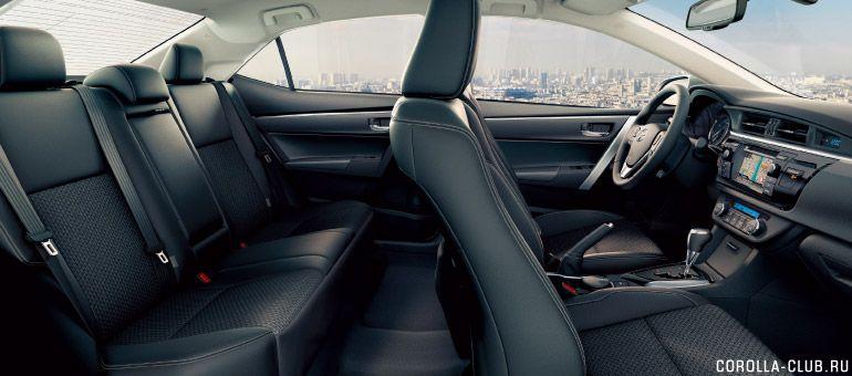 Новая Corolla качество отделки, объем салона
