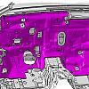 звукоизоляционные материалы передней панели by Esc