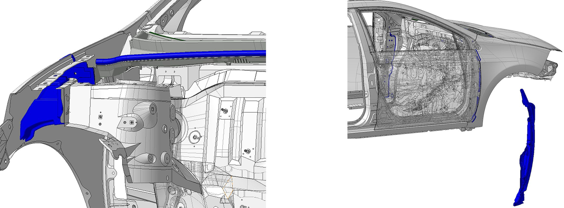 шумоизоляция крыльев и капота на Toyota Corolla 2014