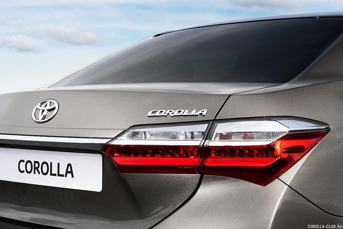 Toyota Corolla рестайлинг багажник