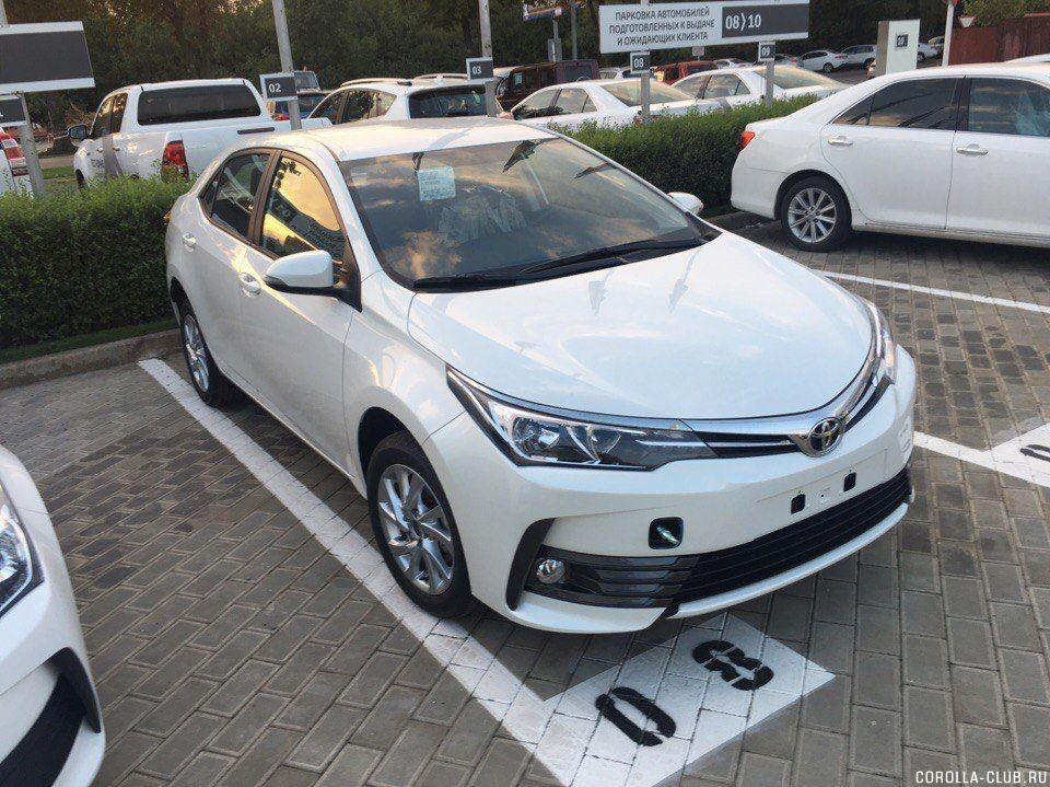 Обновленная Corolla 2017