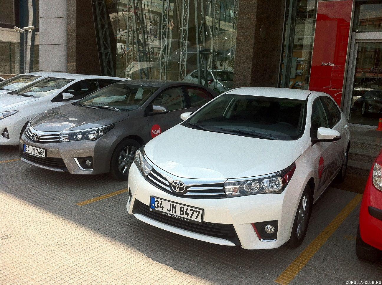 Серый и белый металлик Toyota Corolla