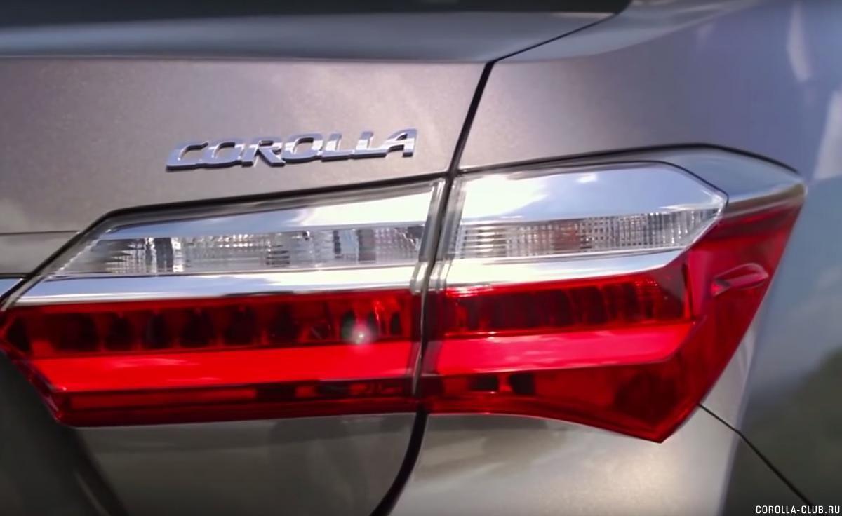 Toyota Corolla 2017 задний фонарь светодиодный
