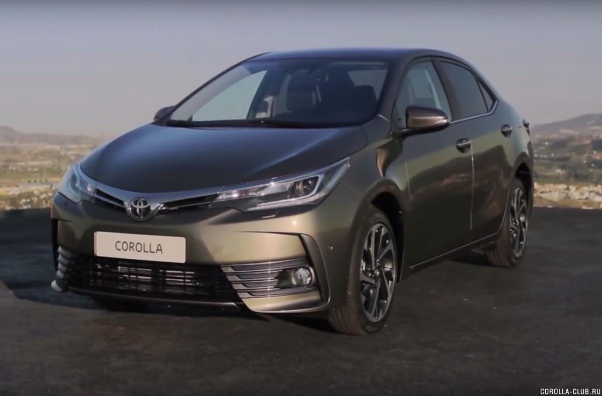 Toyota Corolla 2017 рестайлинг