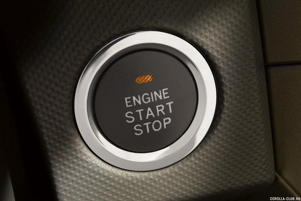 Toyota Corolla кнопка запска двигателя
