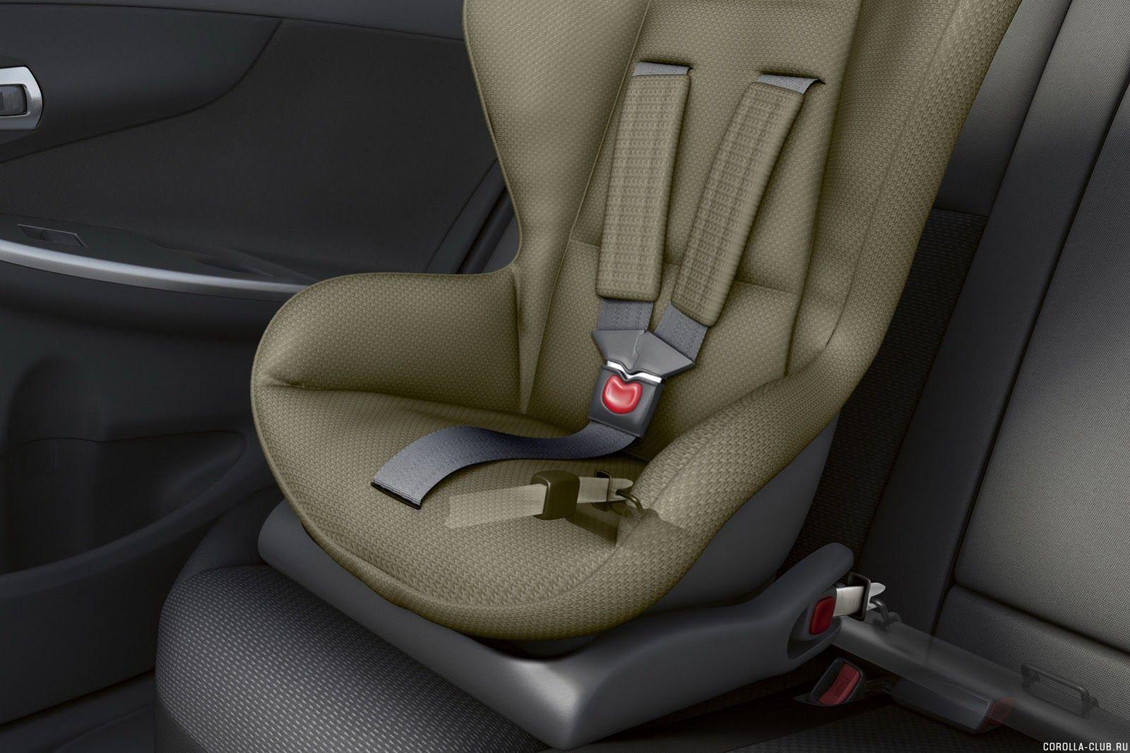 крепление детского кресла на Новой Corolla