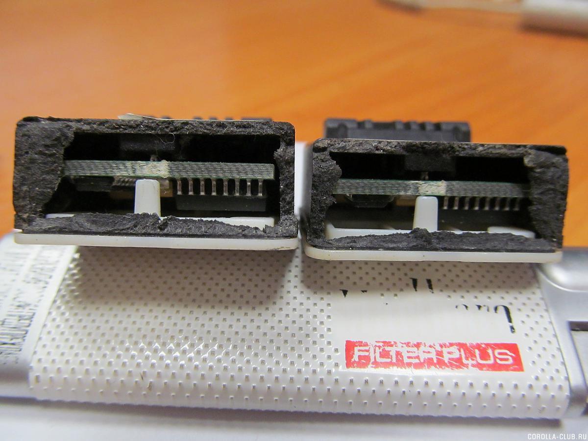 передние датчики
